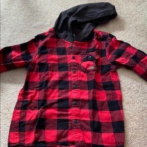 Boy flannel hoodie (S5-6)